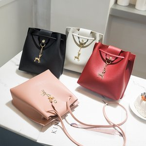 1fyNV Women's Pendant coin purse coin purse single shoulder mobile phone bag 2019 summer and autumn Korean style new crossbody deer bucket p