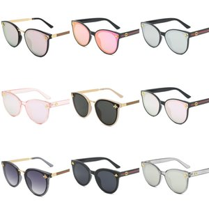 Round Sunglasses Woman Fashion Sunglasses Des Lunettes De Soleil Mens Ray Sun Glasses With Top Leather And Sticker#987