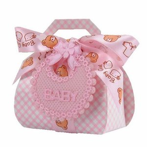 12pcs Pink Blue Baby Girl Boy Paper Gift Box Party Baby Shower Candy Box Feeding Bottle Birthday Party Decorations Kids