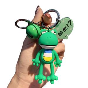 Hot sale Cartoon Fashion Long Leg Frog Key Chain Cute Car Key Holder Bag Pendant Wholesales Gifts
