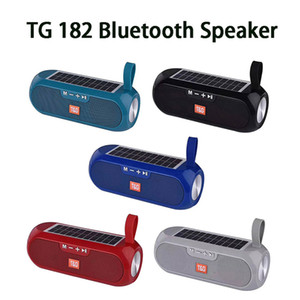 TG182 Solar Power Bluetooth Speaker Portable Column Wireless Stereo Music Box Power Bank Boombox TWS 5.0 Outdoor Support TF USB AUX New
