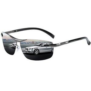 TIYVAS Marca 2020 New Semi-rimless óculos polarizados Homens, Motorista, Conduzir Espelhos Masculino Qualidade óculos Sun Glasses alta Retro