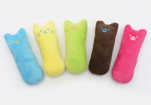 Hot Jardim Dentes De Moagem Catnip Brinquedos Engraçado Interativo Gato De Plush Toy Pet Kitten Mascing Vocal Brinquedo Garras Thumb Bite Mordida Gato Mint para Gatos