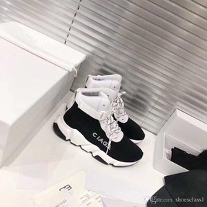 Beat Designer Sneakers en maille stretch speed trainer black Tan men speed mid-top trainer sock sneakers Casual Shoes Runners shoes fz191207
