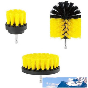 new Power Scrub Brush Drill Cleaning Brush 3 pcs lot For Bathroom Shower Tile Grout Cordless Power Scrubber Drill Attachment Brush