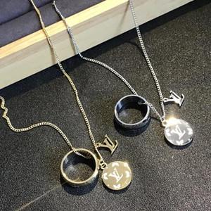 Collier design de luxe arabe Numéro de la marine Collier pour femmes Fille de cadeau d'anniversaire Chaîne en or Amitié Bijoux Collares Louis v