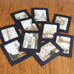 Kağıt Fotoğraf Çerçevesi 4x6 Kraft Kağıt Resim Çerçeveleri Ahşap Klipleri ve Jüt İplikler ile 10 ADET DIY Karton Fotoğraf Çerçeveleri