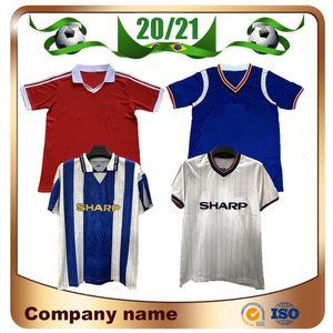 1983 uzaklıkta Retro Sürümü Birleşik beyaz Soccer Jersey 1984 1980 Manchester Ana Kırmızı Futbol Gömlek 94/96 UCL Final maçı Futbol üniforma utd