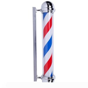 "Advisement Lamp 36"" M317C Rotating Barber Pole Light LED Light Commercial Lightings US Plug Red & Blue & White"