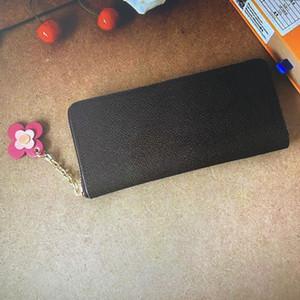 M68314 clemência zippy carteira moda mono florescendo flor titular de cartão de crédito mulheres longas carteiras de zíper floral ornamento mulher bolsa embreagem