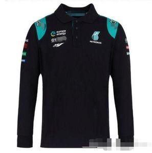 F1 Mercedes-Benz uzun kollu tişört yarış ekip arabası iş elbiseleri, golf sürme Formula Polyester nefes perspirati çabuk kuruyan