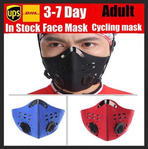 Máscara reutilizable en bicicleta con un filtro libre de mascarilla precio más bajo Activado corrientes del deporte de la bici del camino de formación mascarillas diseñador