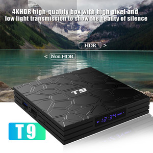 Android 9.0 TV Box T9 RK3318 Quad Core 4K Set Top Box 2.4G 5G Dual WIFI 2G 16G Smart Media Player