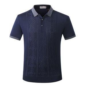 Billionaire polo shirt men's silk 2020 launching comfort casual solid color breath fabric garment big size M-5XL free shipping