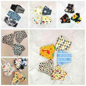 24 стилей для взрослых маски для лица против пыли леопарда цветочных печатных масок можно стирать многоразовые маски рта РМ2,5 фильтра карман хлопка маска CYZ2487