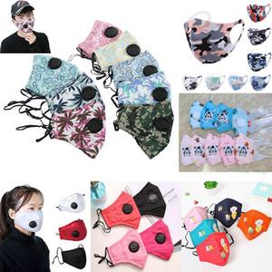 Fashion Fruit Imprimer Masques de visage adultes avec valve Whaker Safet Safet Safet Sperme Haze Masque réutilisable PM2.5 Masque de fête ajustable FY9140
