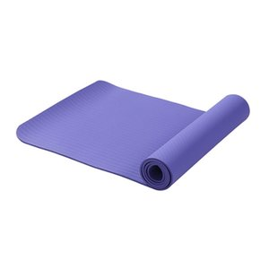 6Mm 183x61Cm Tpe Non-Slip Yoga Mat Unscented Fitness Floor Mat Violet