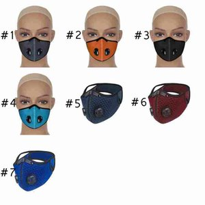 7 Colors Bicycle Face Masks Outdoor Riding Dust-Proof Anti Smog Reusable Breathable Mesh Cycling Designer Mask ZZA2383