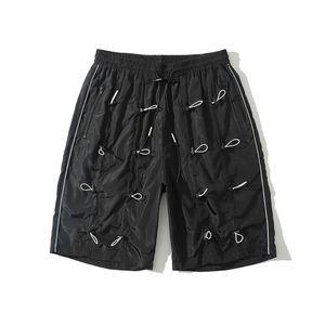 Einstellbare String Shorts Männer elastische Taillen-gerade Männer Shorts Gelb / Schwarz