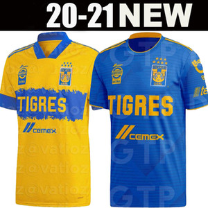 2020 TIGRES SOCCER JERSEYS HOME AWAY 19 PIZARRO SALCEDO 3 LOPEZ 11 CARIOCA 5 AQUINO 20 QUINONES VARGAS 23 9 20 21 JERSEY Football-Shirts