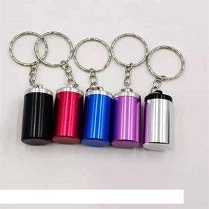 Artículos de palma mini caso Cenicero para colgar más pequeña cadena Ashtrayes caja de aluminio del metal Organizador decorativos Arrvial 2 8HQ B2
