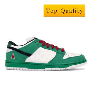 Dunk SB Low Heineken Sneakers Sport Shoes los nuevos Fashion Low Sbdnkl-Man Heiny COLORWAY CLÁSICA VERDE NEGRO color blanco con rojo cuadro Tamaño 36-46
