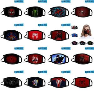 Spider Man lejos de casa impresión en 3D diseñador de la mascarilla máscaras de algodón reutilizable cara fuera de la puerta practicar deporte Máscaras dayupshop mmlqN DWC118