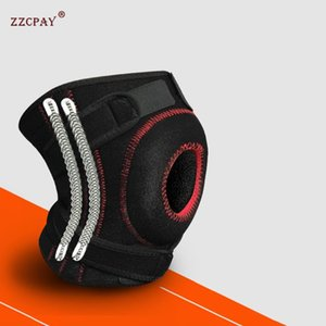 1PCS Adjustable-Trainings-elastische Knie Unterstützung Klammer Schutz Knie Verstellbare tibiale Pad Loch Sicherheit