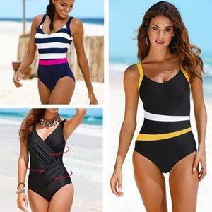 ports & Entertainment 2020 New One Piece Swimsuit Plus Size Swimwear Women Classic Vintage Bathing Suits Beachwear Backless Slim Swim Wea...