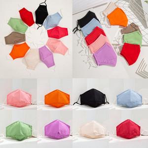 Candy Color Cotton Face Mask Защитные Anti Dust Маски моющийся многоразовый маска Женщины Мужчины лето Thin 10 цветов HHA1476