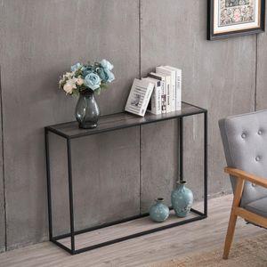 новый удобный домашний кофейный уголок стол 106 * 28 * 76см серый текстура древесины простой Ingle слой консольный столик современный полка моды практические Furnitur