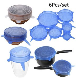 6PCS Silica Gel Fresh-keeping Cover Silicone Lid Storage Cover Bowl Lids