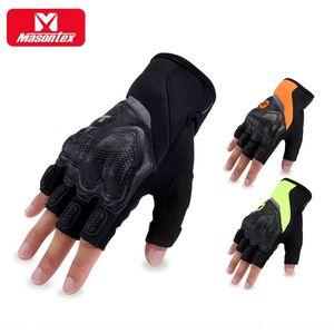 Masontex gants équitation doigt vélo moitié Gants moto anti-chute vélo moto coureur de
