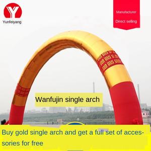 ceremonia de apertura de la puerta de publicidad Wan abertura de la publicidad inflable ceremonia del arco de oro Wan inflable puerta del arco de oro