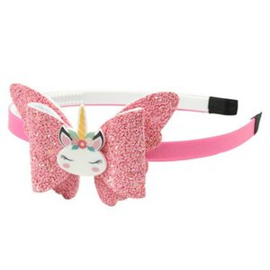 2016 Us Ribbon Covered Plastic Headband With Synthetic Leather Hair Bow Knot Kids Lovely Bling Hair Band Fg006Plastic comecase ZbvRV