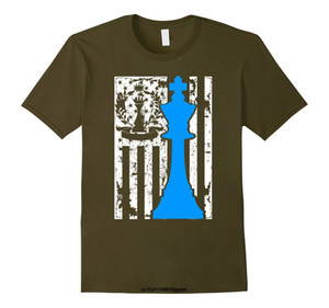 남성 T 셔츠 여성 t- 셔츠 체스 T 셔츠 - 체스 플래그 셔츠 T 셔츠 재미 있은 참신