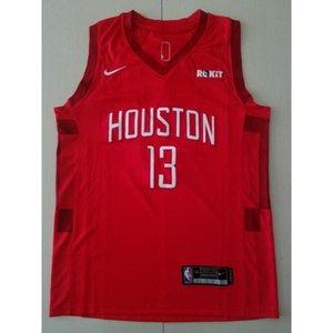 2019-20 New season #13 HARDEN basketball jerseys TOP RED Cheap stitched Basketball jerseys