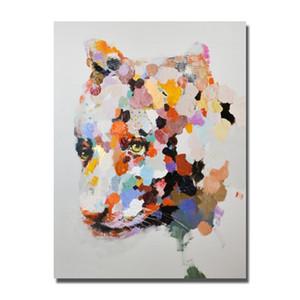 Безрамное Картина для гостиной украшения Ручная роспись современной абстрактной картины маслом на холсте Animal Art Skill Исполнитель Painted Нет Обрамлено