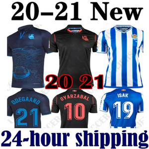 2020 2021 Real Sociedad Odegaard Oyarzabal Isak Soccer Jerseys 20 21 x Prette Gorosabel Sandro Chemise de football Merino Camisetas de futbol