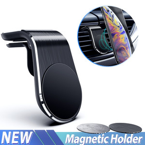 L Shape Magnetic Car Phone Holder Magnet Air Vent Mount Stand Smartphone Holder for Phone In Car Holder for Samsung Accessories