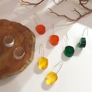 EARS HIGH 2020 Korean New Exaggeration Clear Acrylic Geometric Colorful Earrings For Women Fashion Jewelry Pendientes Mujer Moda