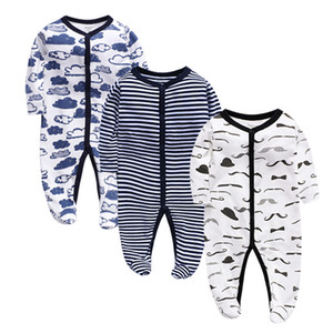 Special Offer Baby Jumpsuit Cotton Foot Wrap Romper Newborn Baby Long Sleeve Romper Romper Spring and Autumn Childrens Clothing