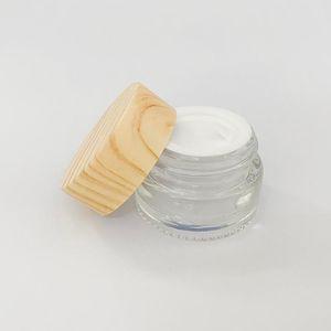 strumento di tamponare 5g cera vaso di vetro Pot Skin Care Crema bottiglia riutilizzabile contenitore cosmetico trucco Coperchio strumento di plastica per la corsa Imballaggio