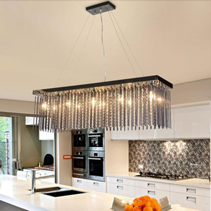 Crystal lamp rectangular dining room Pendant Lights hotel dining hall dining table lamp LED Pendant Light modern bar bedroom crystal light
