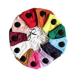 Сплошной цвет маски дышащий Складная рот маски маска многоразового использования с клапаном лица без фильтра конструктора Маски T2I51210
