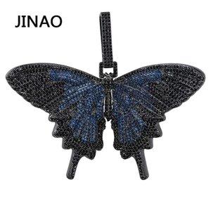 Hop pendente regalo Collana Jinao nuovo fuori ghiacciato insetti multicolori Farfalla PendantsNecklaces micro pavimenta cubana zircone Pietra Hip