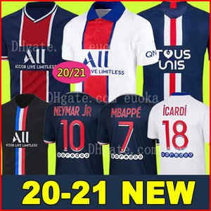 20 21 PSG JORDAN camiseta de fútbol 2020 2021 ICARDI camisa Paris Saint Germain NEYMAR JR MBAPPE soccer jerseys camisa Survetement futebol kit CHAMPIONS camisa de futebol