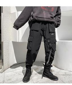 Januarysnow große Tasche Cargo Pants Männer Hip Hop Street Schwarz verdicken Winterhose Mann Frauen Baggy Pants Jogger