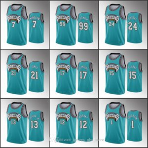 MemphisGrizzliesMen Ja Morant Jaren Jackson Jr. Dillon Brooks Anniversary Classic TealNBA Custom Jersey