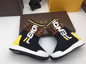2020 new high-quality ladies 100% leather casual shoes high-end designe fashion brand stretch socks boots hococal